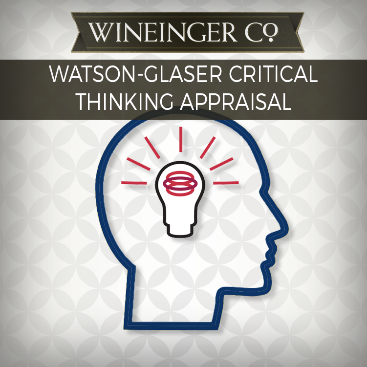 pearson watson-glaser ii critical thinking appraisal Using the cpi 260 instrument with the watson-glaser ii both the cpi 260 assessment and the watson-glaser ii critical thinking appraisal were devel- oped as tools for in addition, individuals can be compared to a sample of on-track.